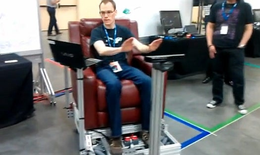 Video: A Fully Kinect-Steered Vehicle Zips Around With A Wave of the Driver's Hand