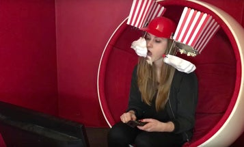 This Is How To Make Your Own Popcorn Dispensing Helmet