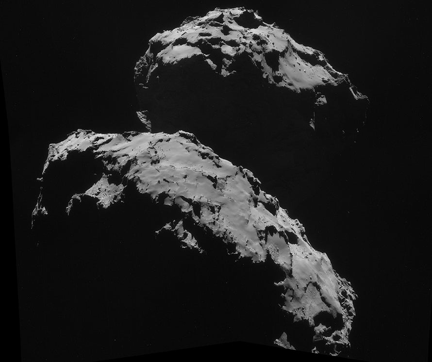 Where Is This Comet's Tail?