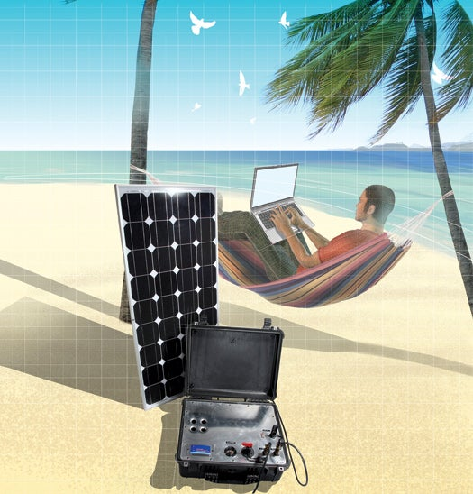 Take Your Office Anywhere With This Weatherproof, Solar-Powered Rig