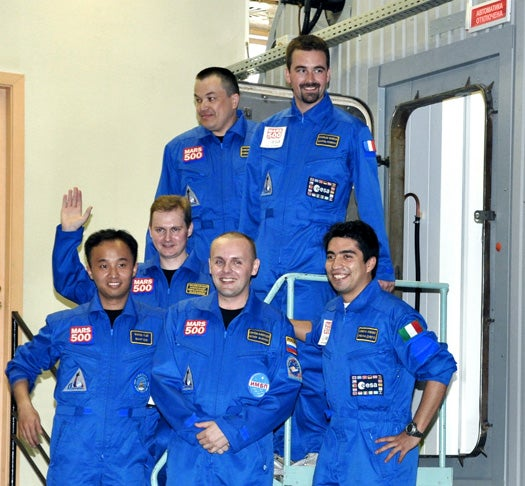 Mars500 Crew Enters Isolation Facility as 520-Day Simulated Journey to Mars Launches