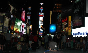 Watching Curiosity's Mars Landing Live on a 53-Foot Screen in Times Square