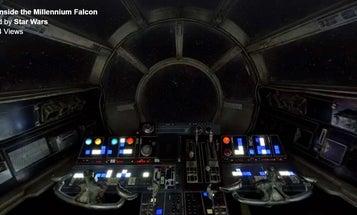 Explore The Millennium Falcon's Cockpit In 360-Degree Video