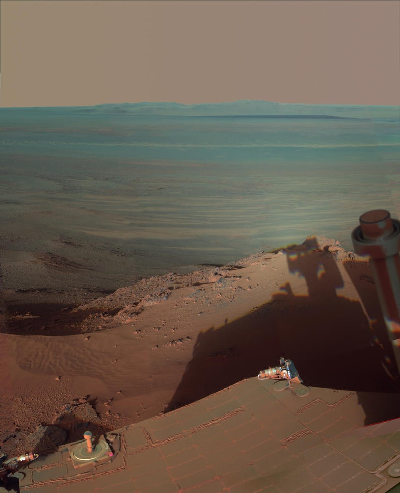 Shadows at Endeavour Crater