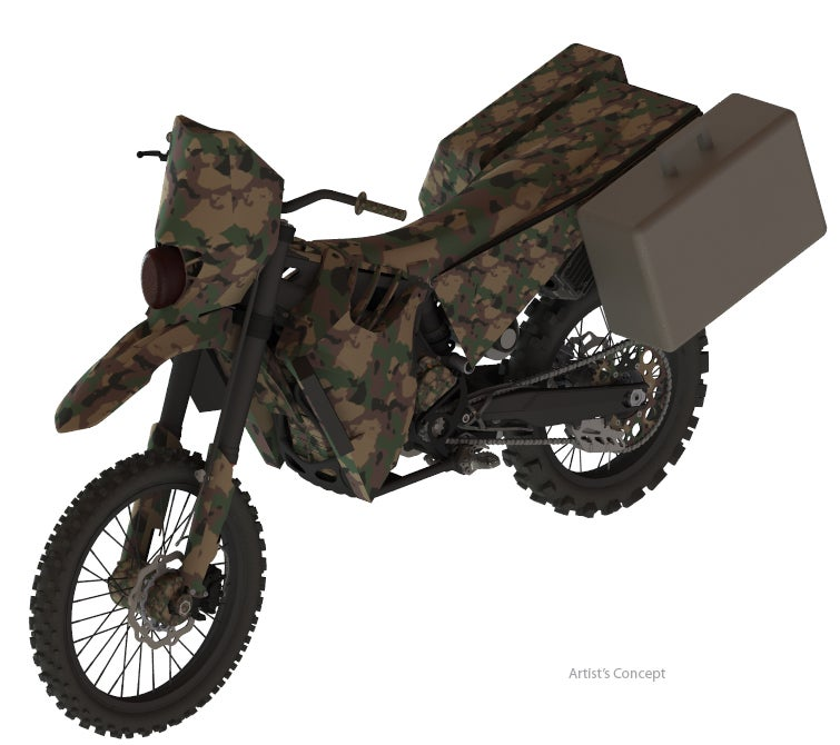 DARPA's Super Quiet Motorcycle Moves Ahead