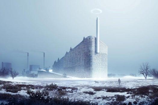 Combination Ski Slope-Trash Incinerator Breaks Ground In Copenhagen