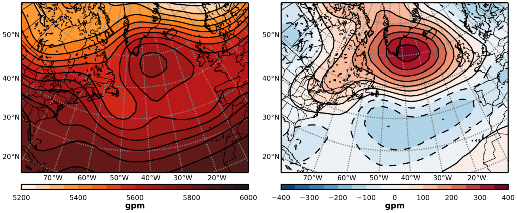 map of greenland block weather pattern