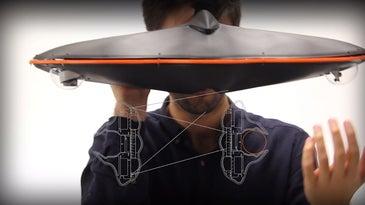 Man Wearing PolyEyes 2.0 Headset