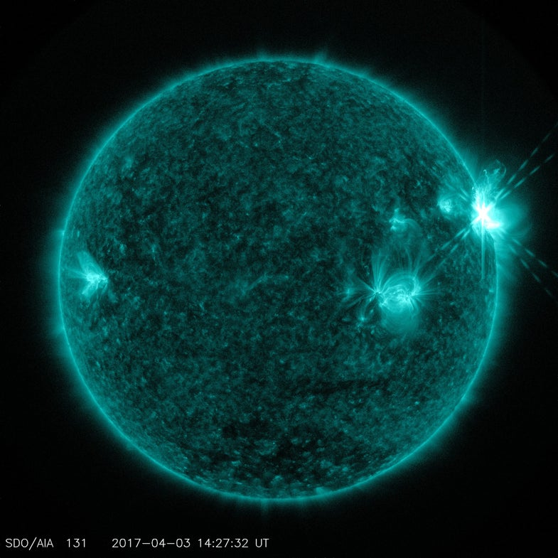 A forensic stabbing machine, a trio of solar flares, and other amazing images of the week