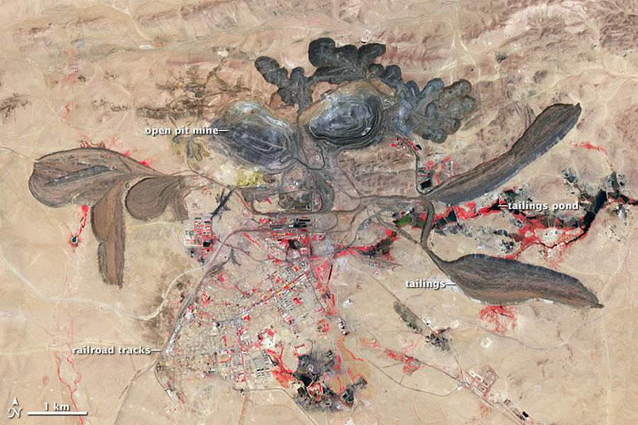 The Bayan Obo Mining District in Inner Mongolia is China's largest source of rare metals.