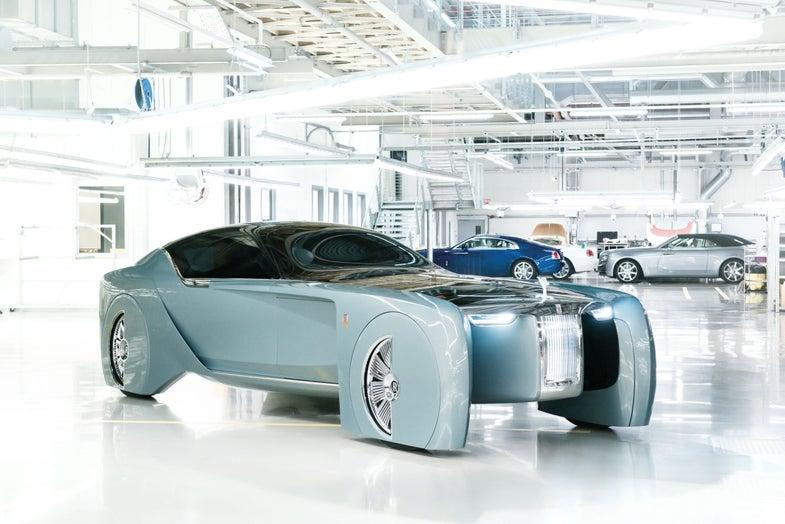 Rolls-Royce Vision Next 100 in the garage