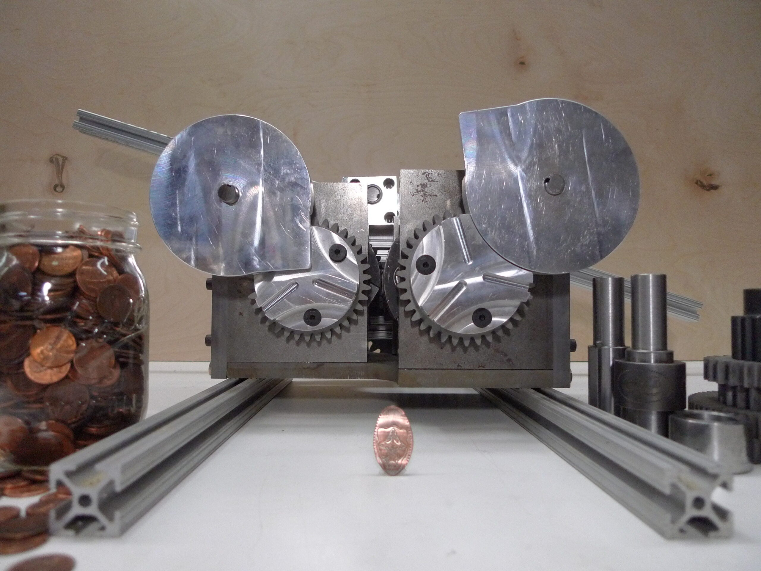 This Steampunk Penny Crusher Was Made By Hand