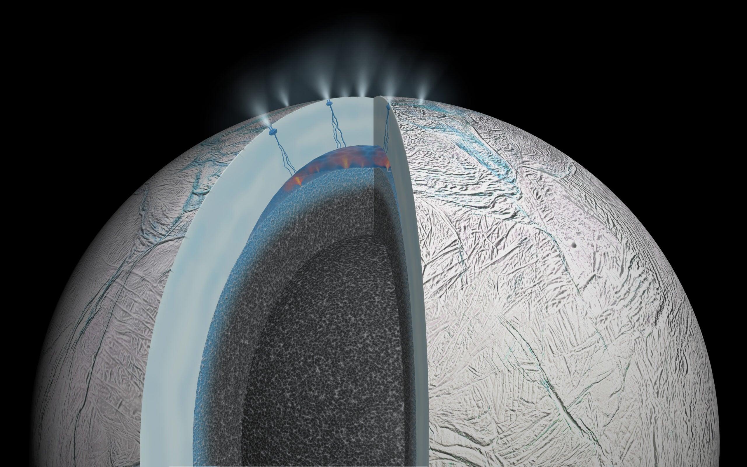 Saturn's Moon Enceladus May Have Sandy Hot Springs