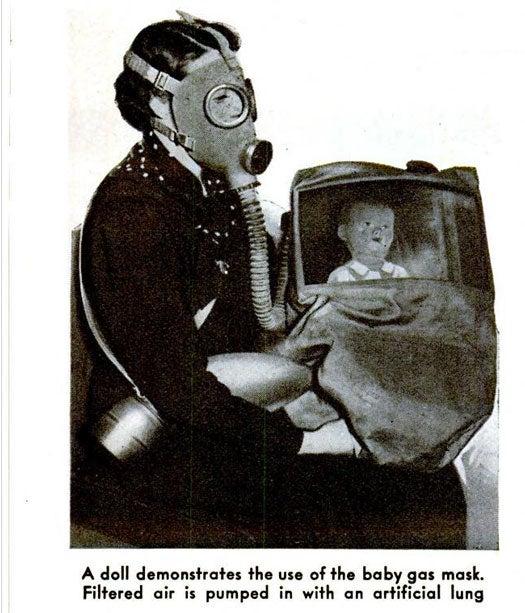 Baby Gas Mask: November 1938