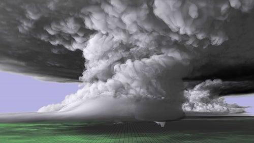 Come watch a supercomputer simulation of a devastating tornado