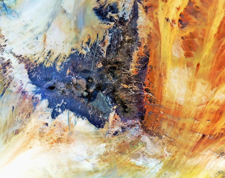 BigPic: From Above, These Saharan Mountains Look Like Abstract Art