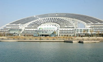 """Chinese """"Sun Dial"""" is the World's Largest Solar-Powered Office Building"""
