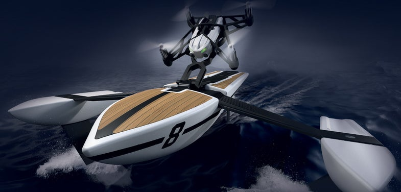 Watch This Drone Drive A Toy Boat