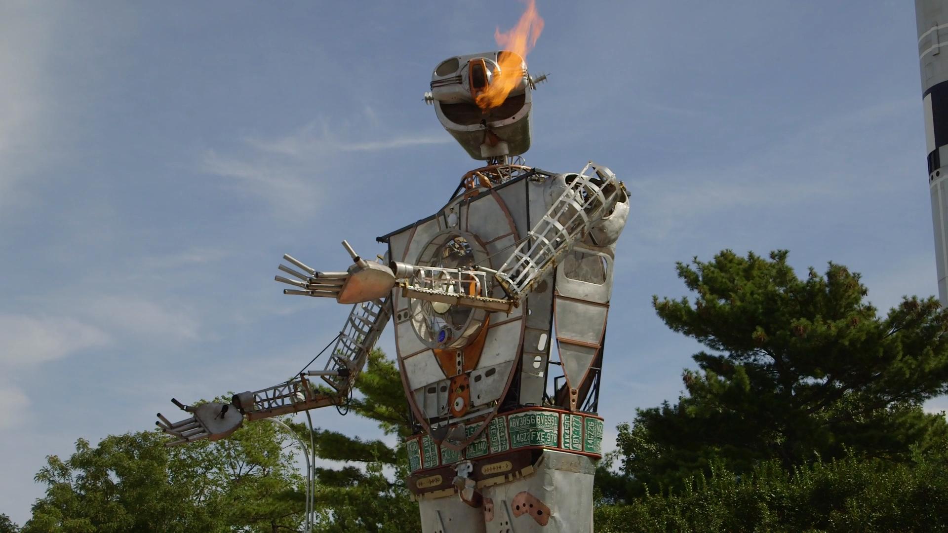 Maker Faire: Go Inside A 30-Foot Fire-Breathing Robot