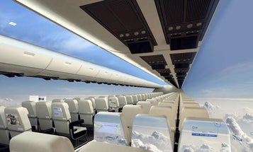 Future Airplanes Might Replace Windows With OLED Screens