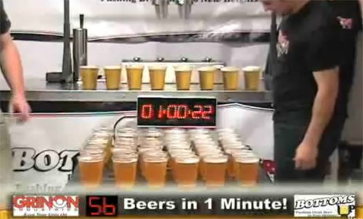 Video: Revolutionary Beer-Pouring System Fills Cups At Breakneck Speed, Using Magnets