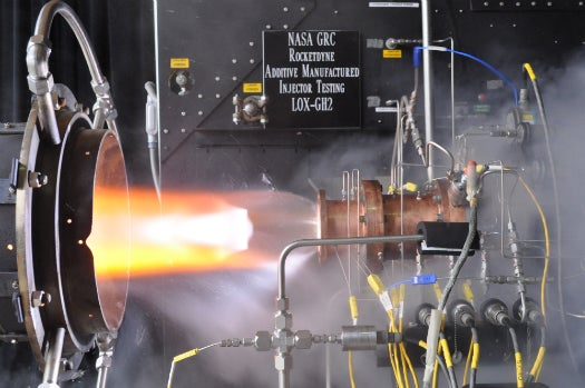 NASA Successfully Tests First 3-D Printed Rocket Engine Injector