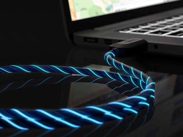 Get a charge and a light show with this glow-in-the-dark lightning cable