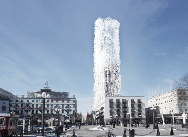 Concept Skyscraper Generates Its Own Energy, Looks Like A Toilet Brush