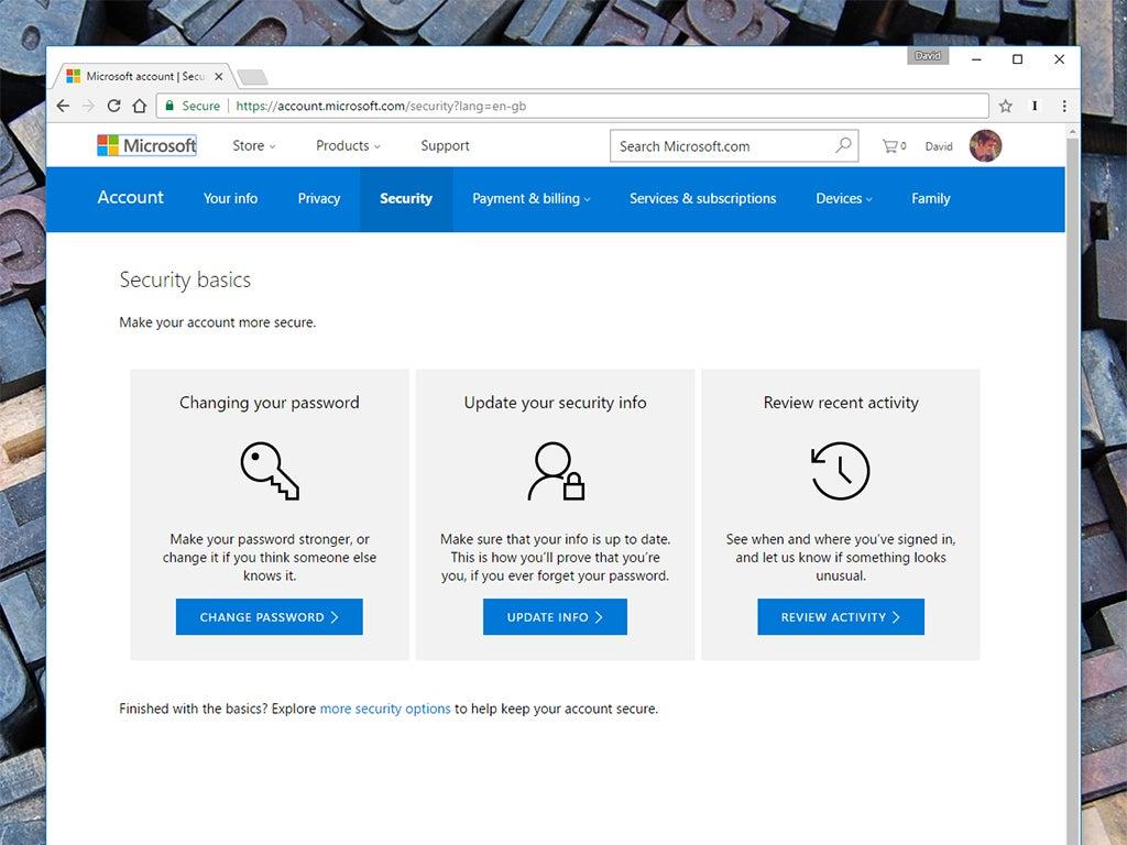 Microsoft security basics