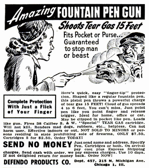Cartridge of Tear Gas: February 1949