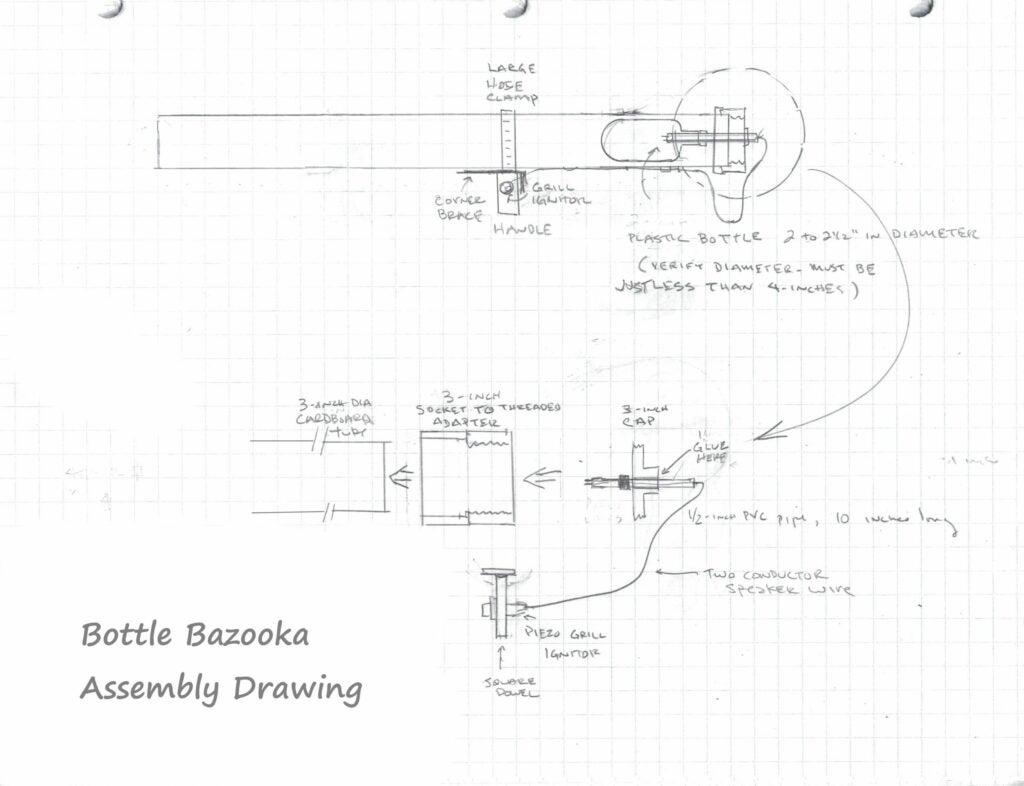 Bottle Bazooka Assembly Drawing