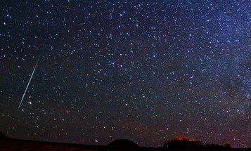 Is That A UFO In This Timelapse Video Of A Meteor Shower?