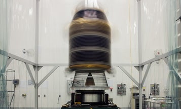 Big Pic: NASA Lunar Satellite Undergoes Spin Testing Before Tonight's Big Flight