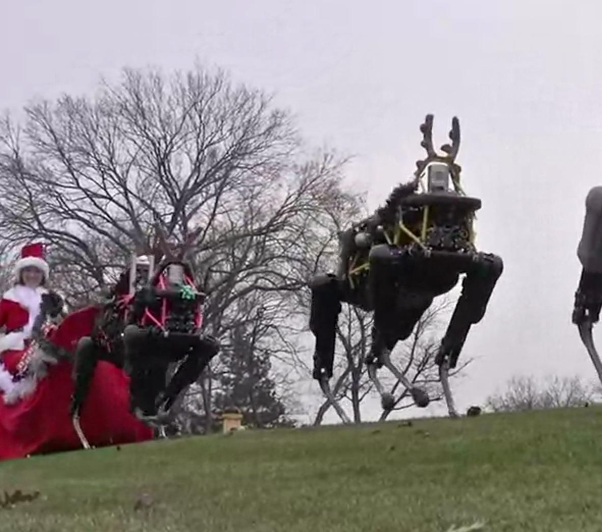 Boston Dynamics Robots Make Reindeer Obsolete