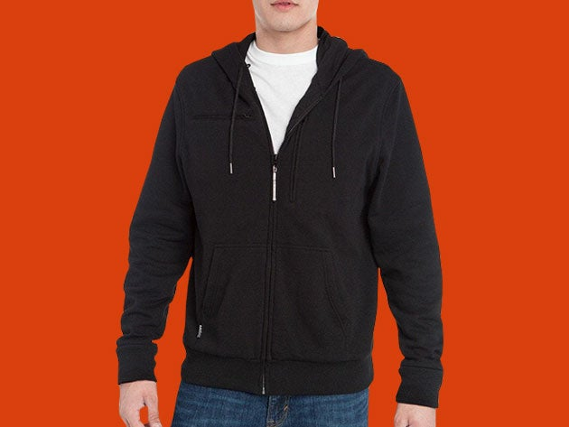 This BauBax travel sweatshirt is packed with useful features