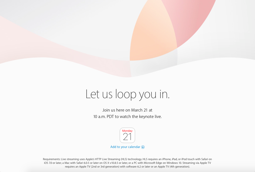 Where To Watch Apple's March 2016 iPhone Event Online