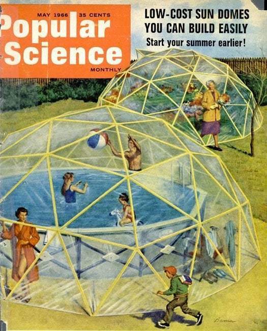 Air-Bubble Sun Dome: April 1966