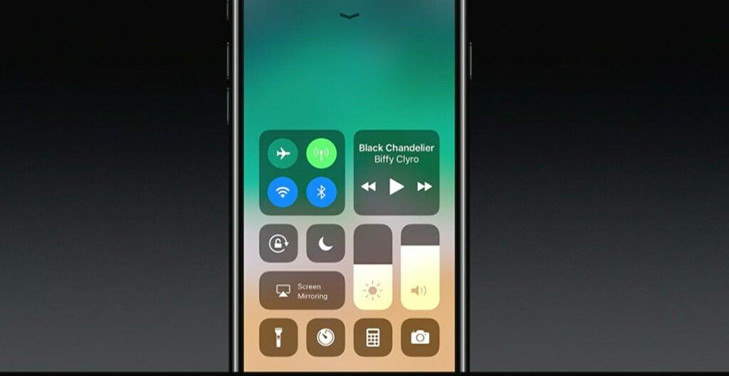 Apple iOS 11 app dock