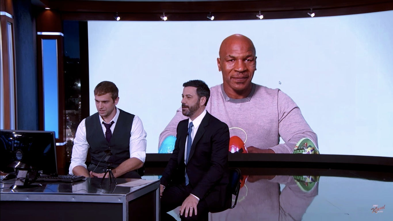 Watch Jimmy Kimmel Become Mike Tyson And Karl Malone Digitally