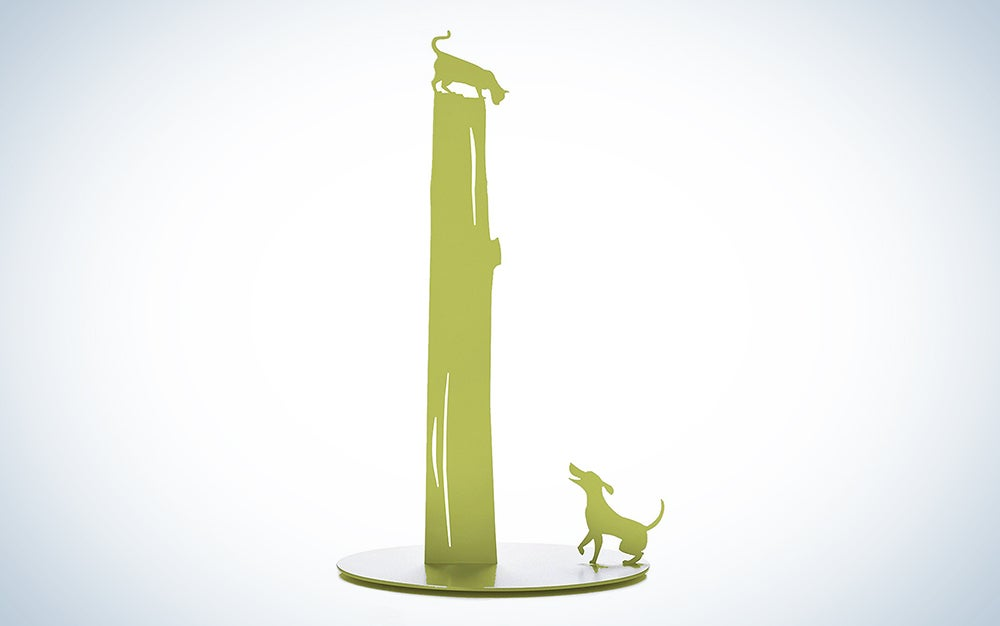 Artori Design Green Dog vs. Cat Paper Towel Holder