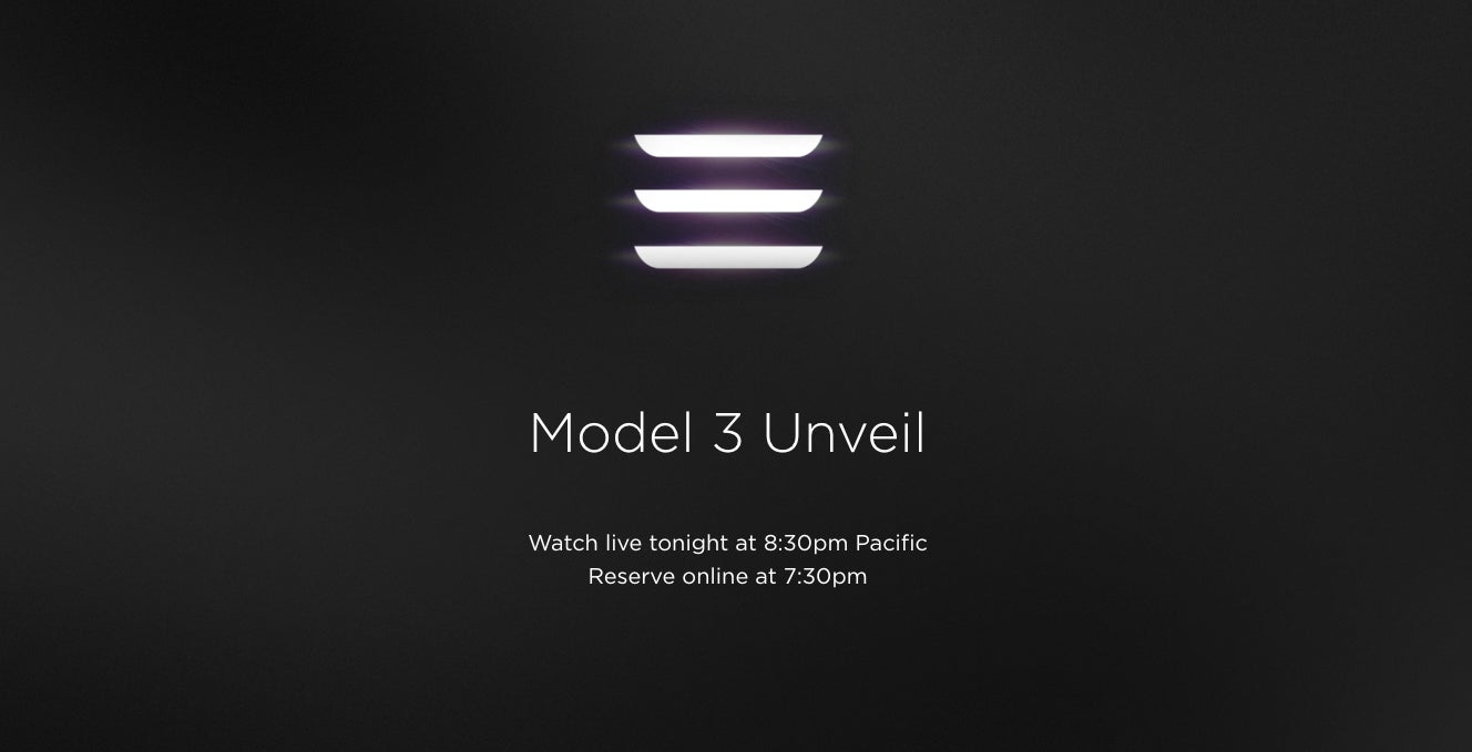 Elon Musk Says You Can Pre-Order A Tesla Model 3 Online Tonight (or Two)