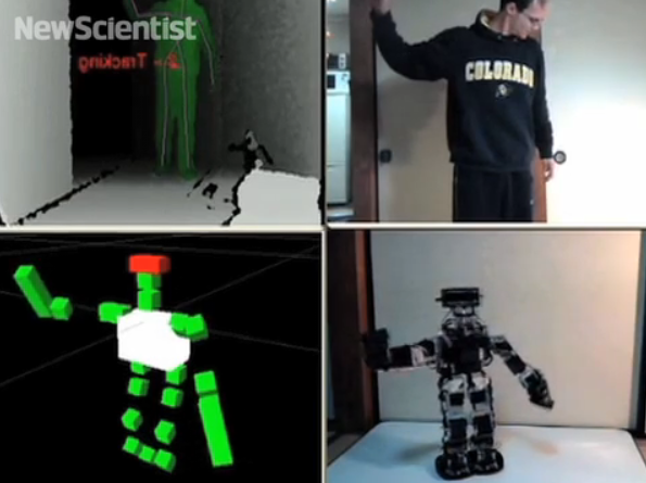 Video: Microsoft-Kinect-Controlled Robot Mimics Your Movements