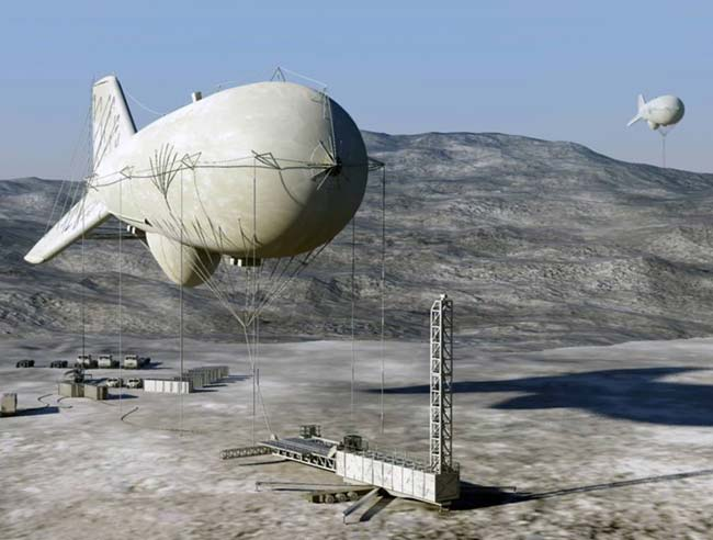 Battlefield Blimp Tracks Low-Flying Cruise Missiles