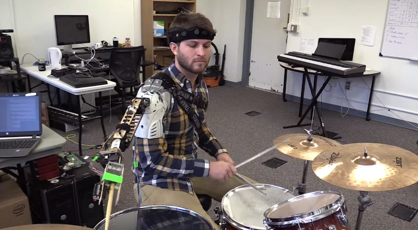 Robotic Third Arm Turns Drummers Into Beat Machines