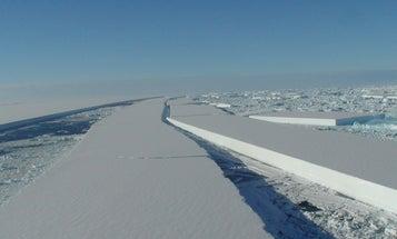 Massive Ice Shelf Collapse