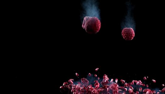 Watch Raspberries Shatter In Slow Motion
