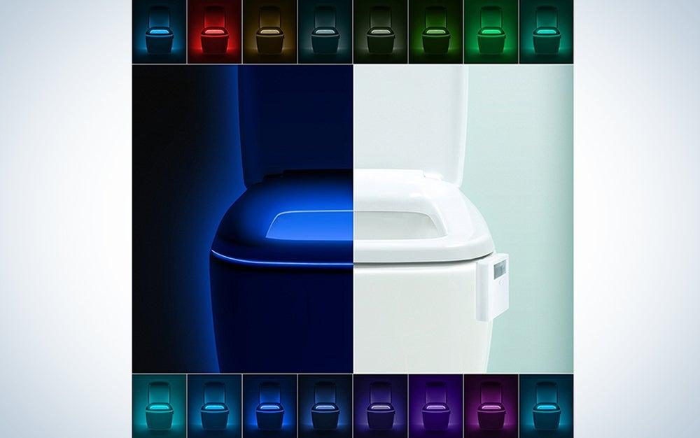 LumiLux Advanced 16-Color Motion Sensor LED Toilet Light
