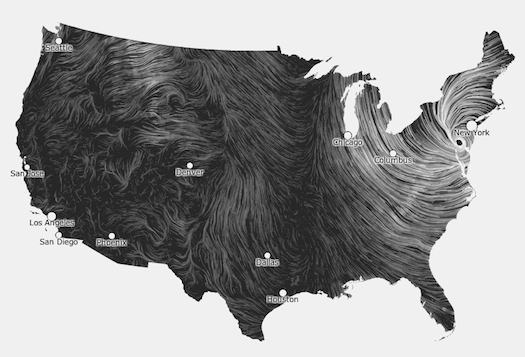 Daily Infographic: Gorgeous Wind Map Captures Sandy In Real-Time