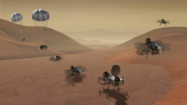 NASA's next mission will either grab part of a comet, or bop around one of Saturn's moons