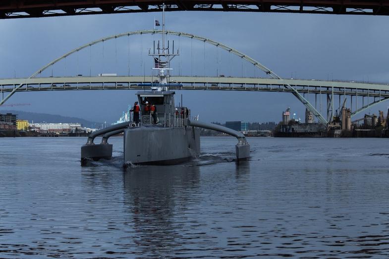 Today DARPA Christens Its Robotic Submarine Hunting Ship
